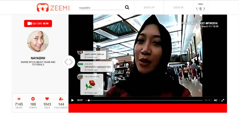 Zeemi Live Video Streaming