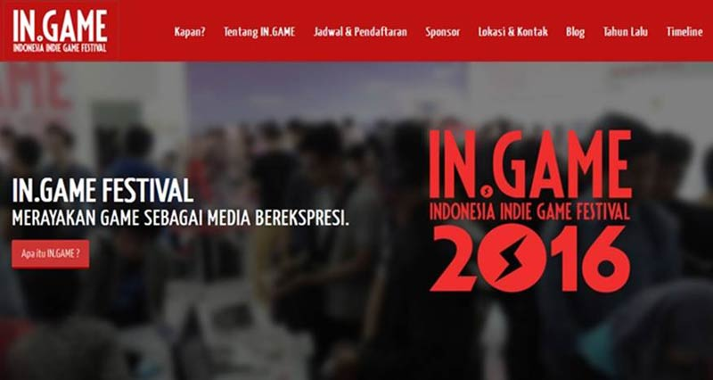 Indonesia Indie Game Festival 2016 (IN.GAME Festival)