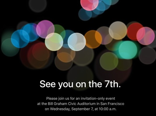 iphone 7 invitation