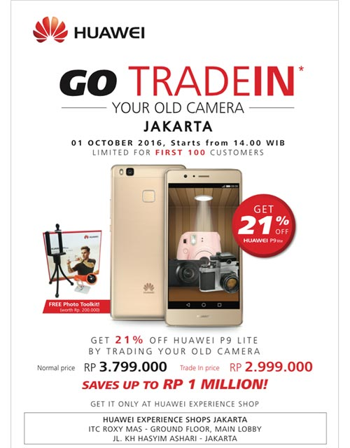 Program trade-in kamera tua dengan Huawei P9 lite