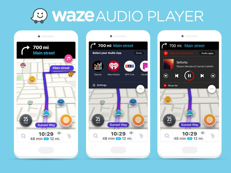 waze youtube music
