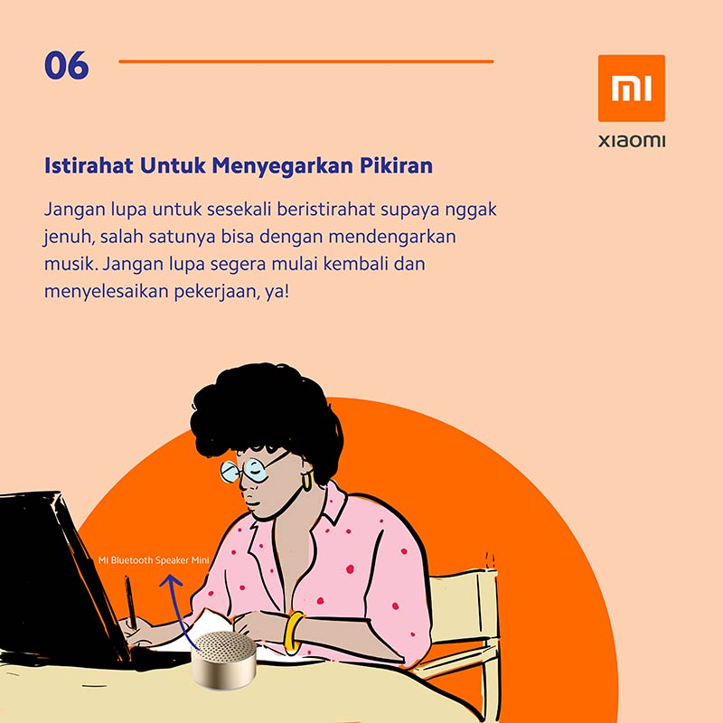Infografis: 8 Tips & Trik Working From Home (WFH) Ala Xiaomi 4