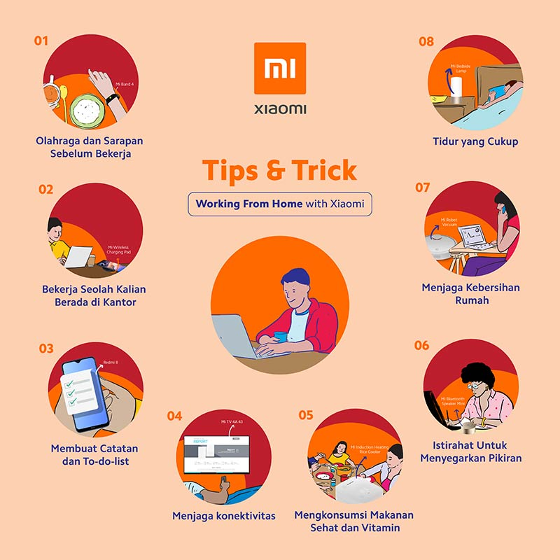 Infografis: 8 Tips & Trik Working From Home (WFH) Ala Xiaomi 5